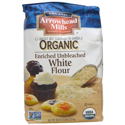 Organic Enriched Unbleached White Flour (8 Pack)
