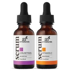 Art Naturals Vitamin C Serum  Retinol Serum Duo