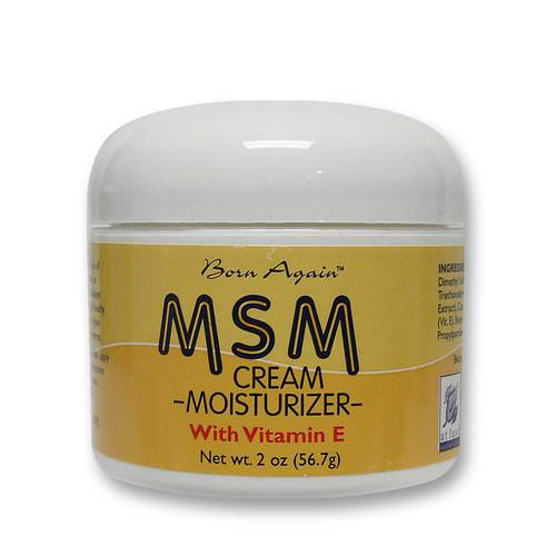 Born Again MSM Cream Moisturizer with Vitamin E