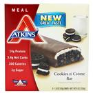 Atkins Advantage Meal Bar - Cookies N Cream - 5 Bars
