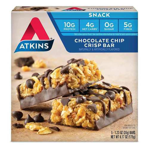 Atkins Day Break Bar Virutas de chocolate - 5 Bars - 24504_front2020.jpg