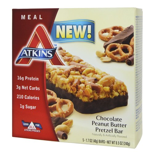 Atkins Advantage Bar Pretzel de mantequilla de maní de chocolate - 5 Bars - 84824_a.jpg