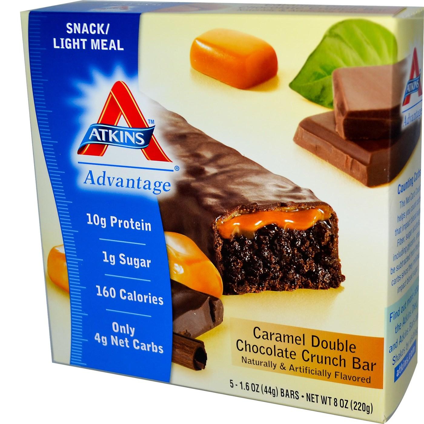 Atkins Caramel Double Chocolate Crunch Bar Review