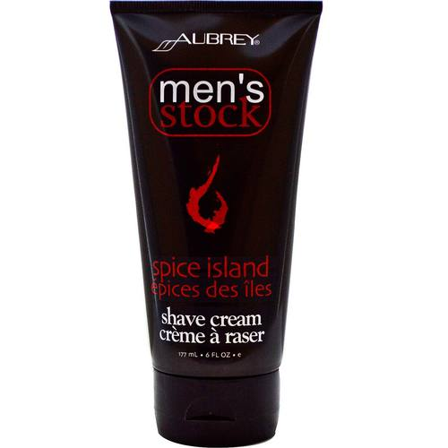 Aubrey Organics Men's Stock Shave Cream Spice Island - 6 oz