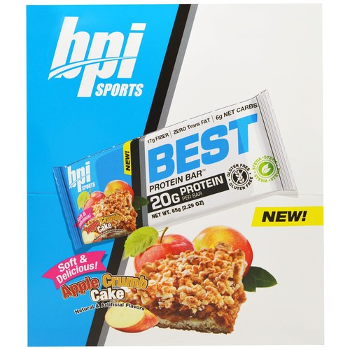 BPI Best Protein Bar Apple Crumb Cake - 12 - 2.29 oz Bars