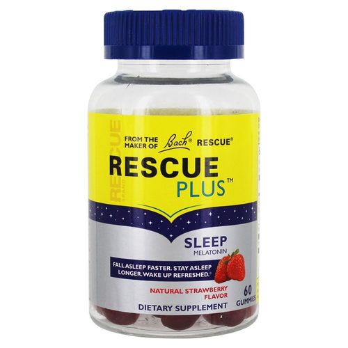 Bach Flower Remedies, Rescue® com Melatonina  - 60 Gomas - 312413_front.jpg