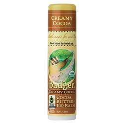 Badger Cocoa Butter Lip Balm- Creamy Cocoa