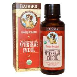 Badger Moisturizing After Shave Face Oil- Cooling Bergamot
