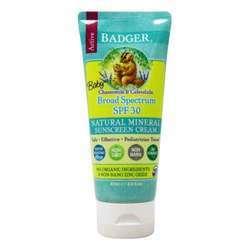 Badger Baby Sunscreen Cream - Chamomile  Calendula- Broad Spectrum SPF 30