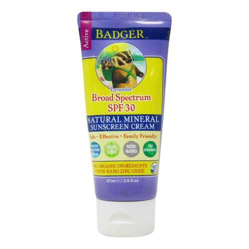 Badger Sunscreen Cream - SPF 30 Lavender - 2.9 fl oz (87 ml)  - 350903_front2020.jpg
