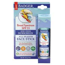 Badger All Season Face Stick- Sport Sunscreen- SPF 35
