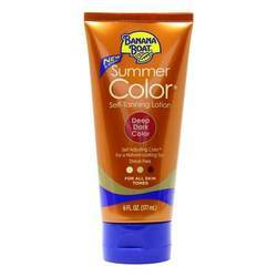 Banana Boat Summer Color Self-Tanning Lotion Deep Dark Color