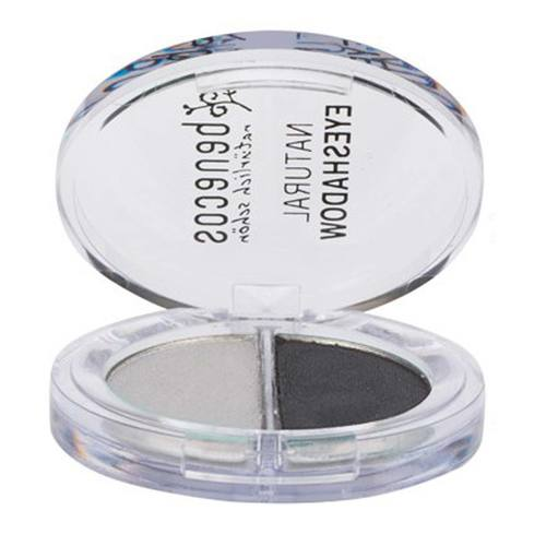 Benecos Natural Duo Eyeshadow, Silver - Shady Greys - 4 g