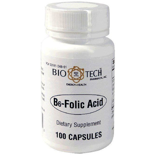 BioTech Pharmacal B6-Folic Acid - 100 Capsules