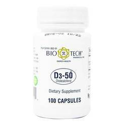 BioTech Pharmacal D3-50 50,000 IU