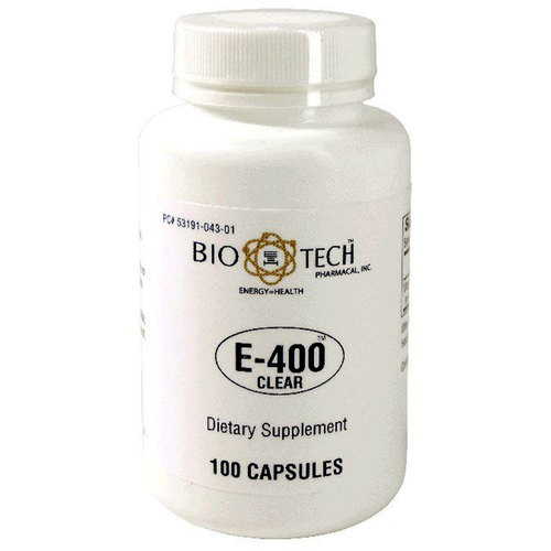 BioTech Pharmacal E-400 Clear  - 100 Capsules