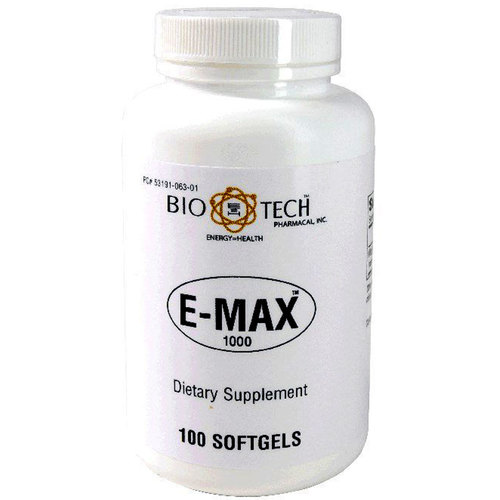 BioTech Pharmacal E-Max 1000 - 100 Softgels