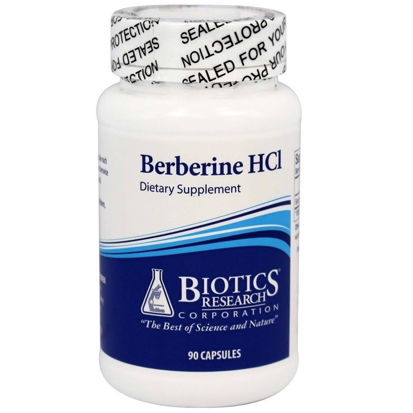 Biotics Research Berberine HCl 500 mg - 90 Capsules