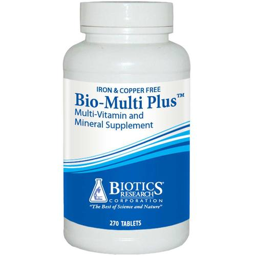 Biotics Research Bio-Multi Plus Iron and Copper Free - 270 Tablets