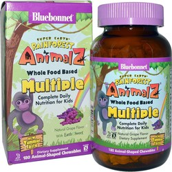 Bluebonnet Nutrition Super Earth Rainforest Animalz Whole Food Based Multiple