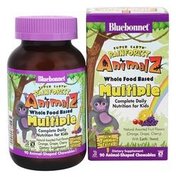Bluebonnet Nutrition Super Earth Rainforest Animalz Whole Food Based Multiple