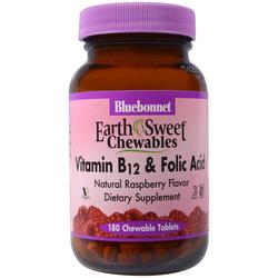 Bluebonnet Nutrition EarthSweet Chewables Vitamin B-12  Folic Acid