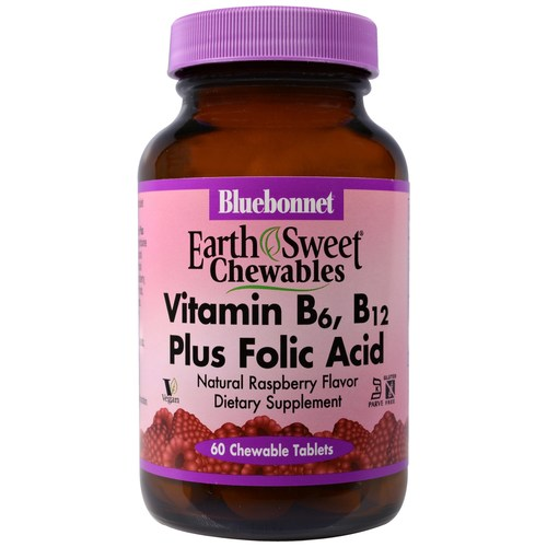 EarthSweet Vitamin B6, B12 Plus Folic Acid Chewables