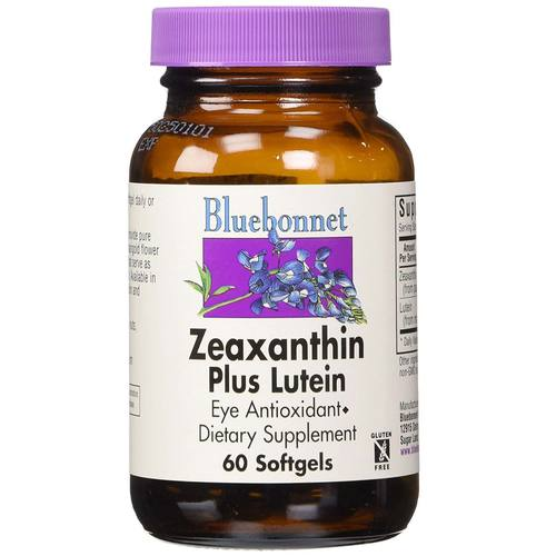 Bluebonnet Nutrition Zeaxanthin Plus Lutein  - 4 mg - 60 Softgels