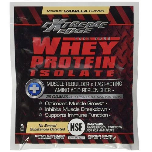 Bluebonnet Nutrition 100% Natural Whey Proteína Isolate Powder, Baunilha viciosa - 7 Packets