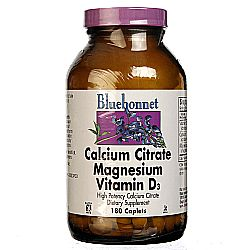 Bluebonnet Nutrition Calcium Citrate Magnesium Plus Vitamin D3
