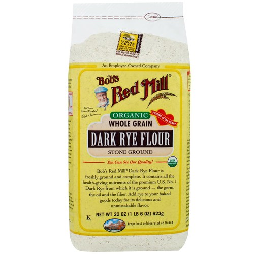 Organic Whole Grain Dark Rye Flour