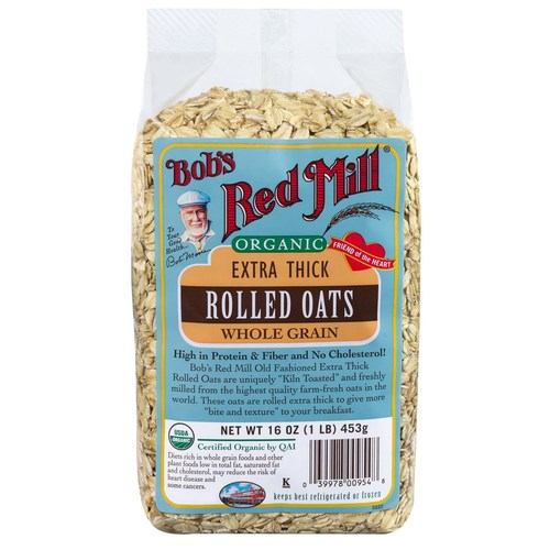 Organic Extra Thick Rolled Oats (4 Pack)