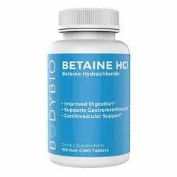 BodyBio Betaine HCl - 324 mg