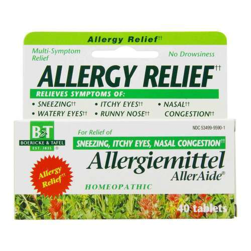 Boericke and Tafel Allergiemittel AllerAide Homeopathic Allergy Relief - 40 Tablets - 14983_front2020.jpg