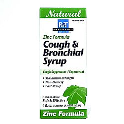 Boericke and Tafel Cough  Bronchial Syrup with Zinc