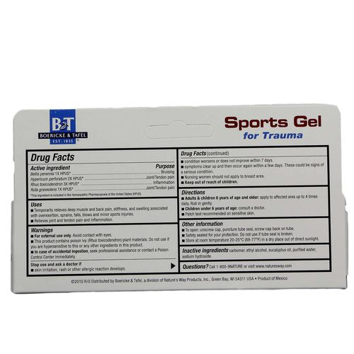 Sports Gel for Trauma