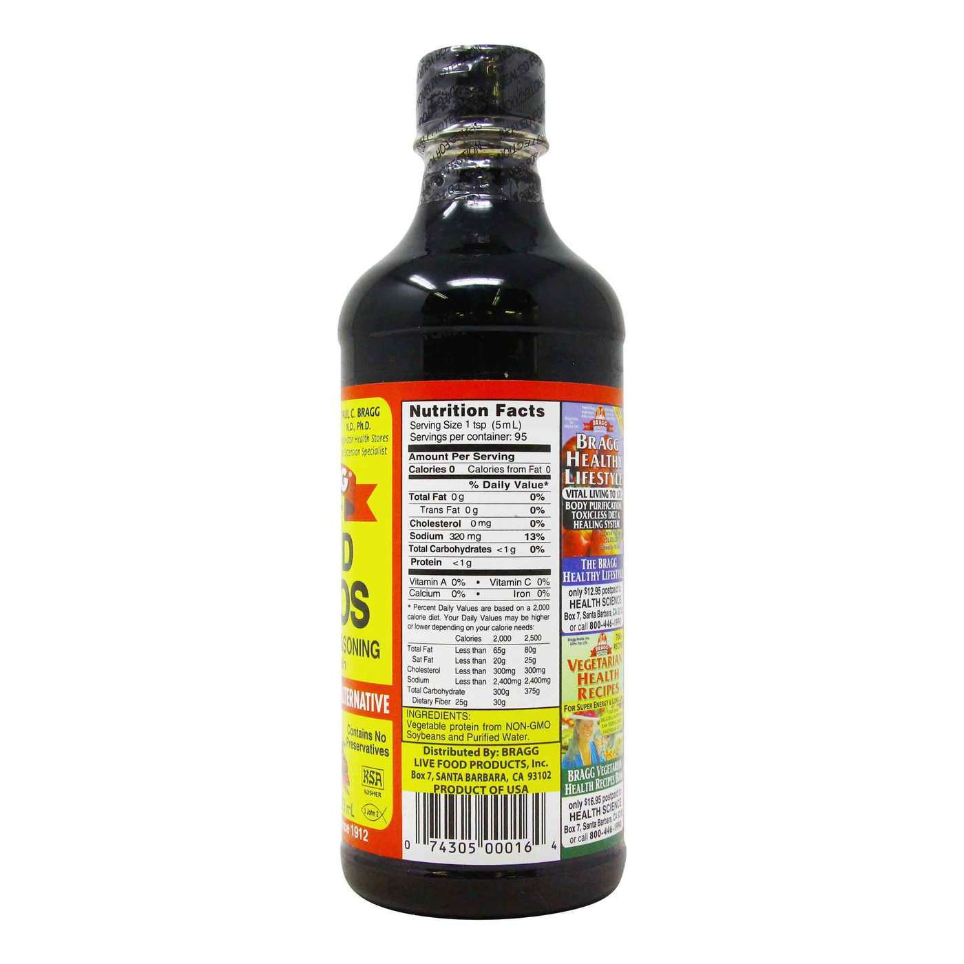 Bragg Liquid Aminos Natural Soy Sauce Alternative 16 Fl Oz 473 Ml Evitamins Com