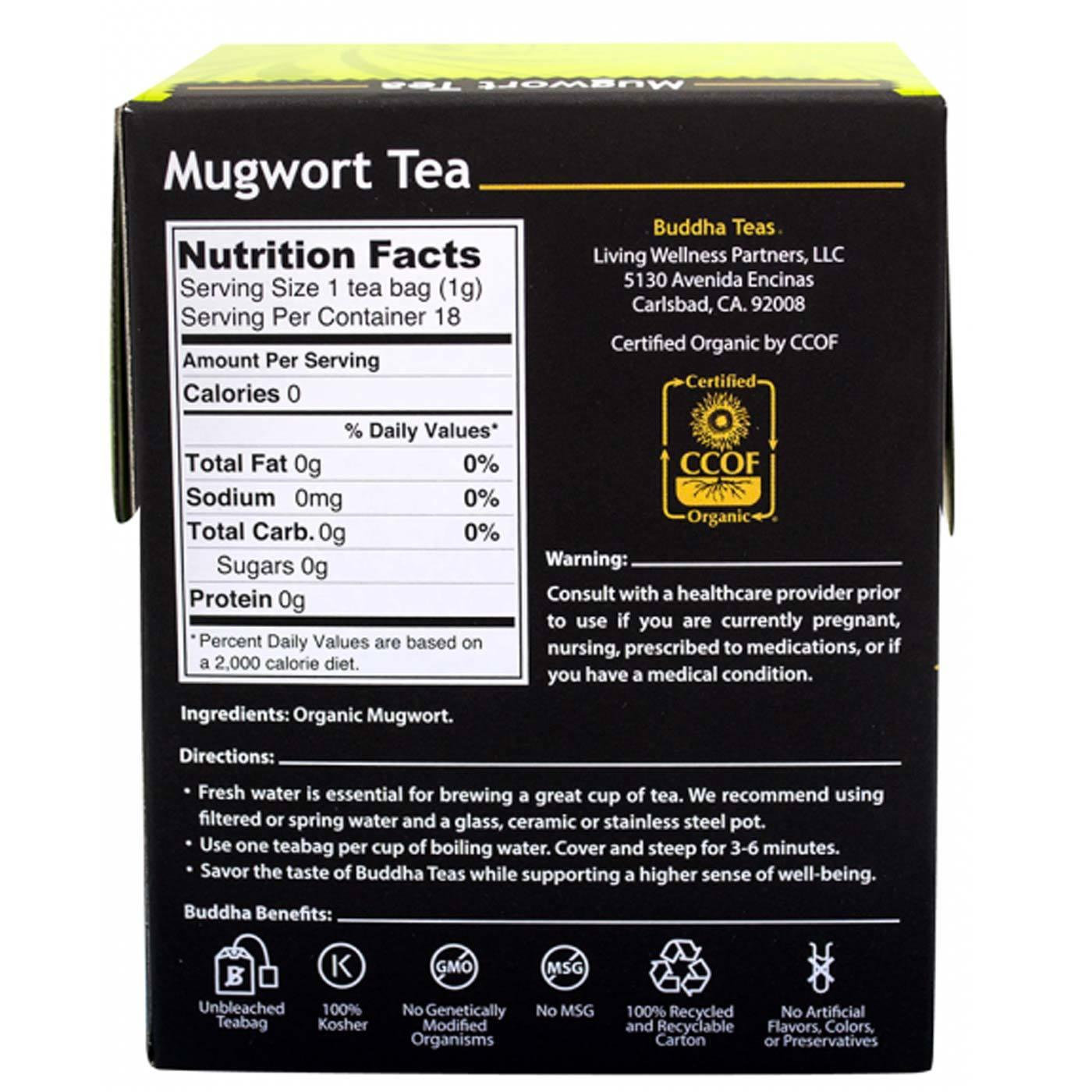 Buddha Teas Herbal Tea Mugwort - 18 bags