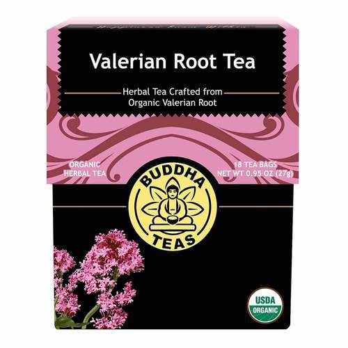 Buddha Teas Valerian Root Herbal Tea Valerian - 18 bags - 107380_front2020.jpg