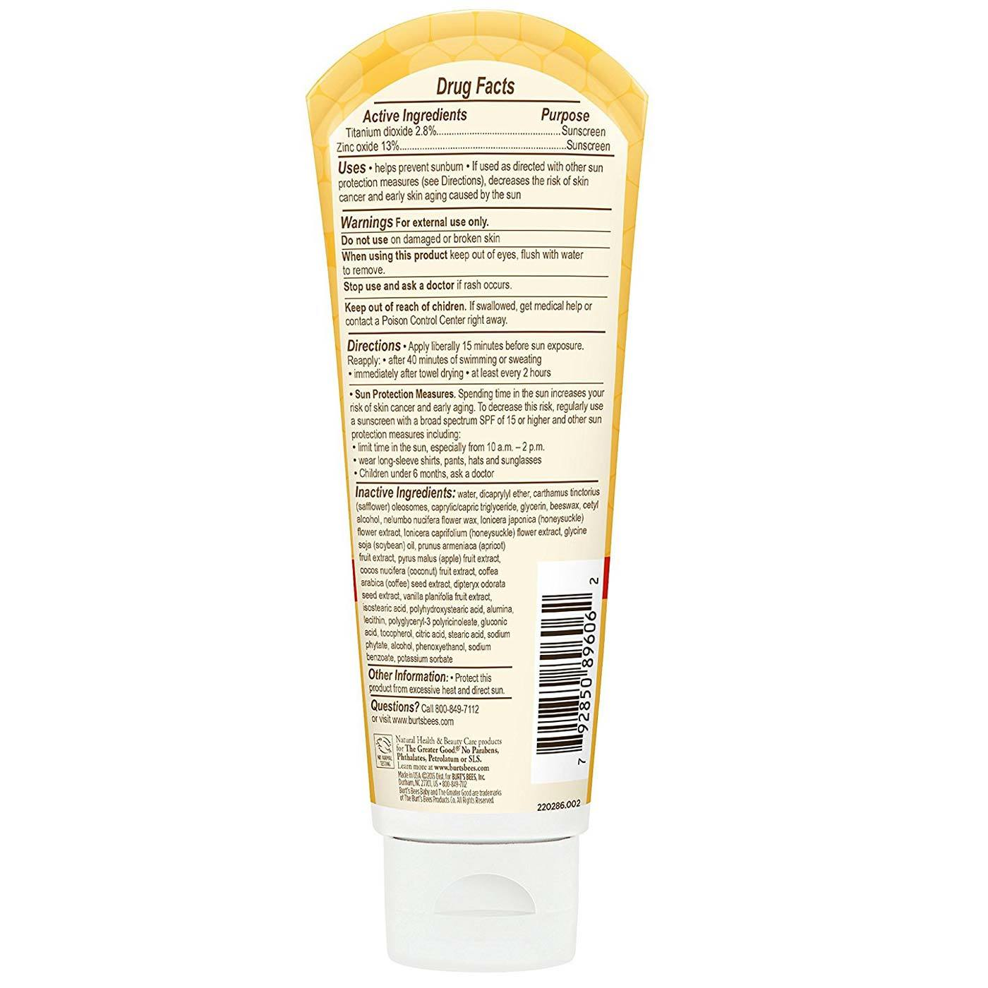 Burt S Bees Baby Bee Nourishing Mineral Sunscreen Lotion