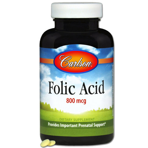 Carlson Labs Folic Acid  - 800 mcg - 300 Tablets