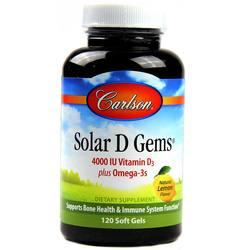 Carlson Labs Solar D Gems Vitamin D3 4000 IU