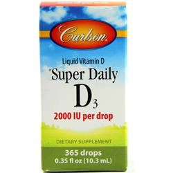 Carlson Labs Super Daily D3 Drops 2000 IU