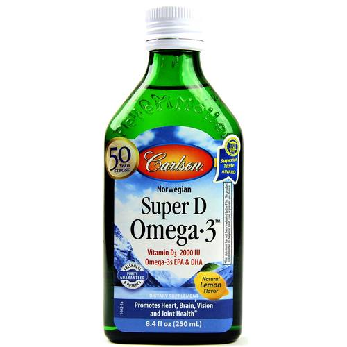 Carlson Labs Super D Omega-3 Lemon - 8.4 fl. oz. - 15038_1.jpg