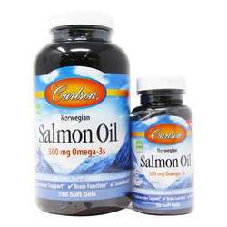 Carlson Labs Norwegian Salmon Oil 500 mg Omega-3s