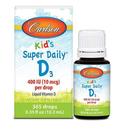 Carlson Labs Super Daily D3 For Kids  - 12.6 mL - 15538_front2020.jpg