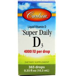 Carlson Labs Super Daily D3  - 4,000 IU - 0.35 fl oz (10.3 ml)