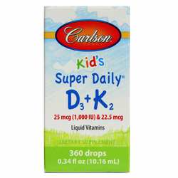 Carlson Labs Kid's Super Daily D3 + K2
