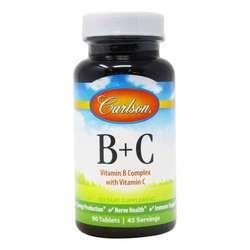 Carlson Labs B + C Vitamin B Complex with Vitamin C