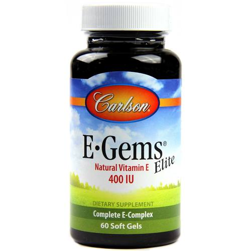 Carlson Labs E-Gems Elite  - 400 IU - 60 Softgels - 545_1.jpg